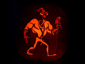 Earthworm Jim Pumpkin