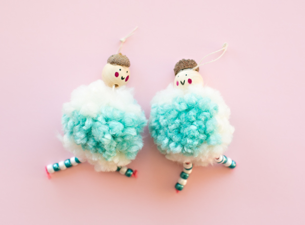Arctic pompom doll ornaments