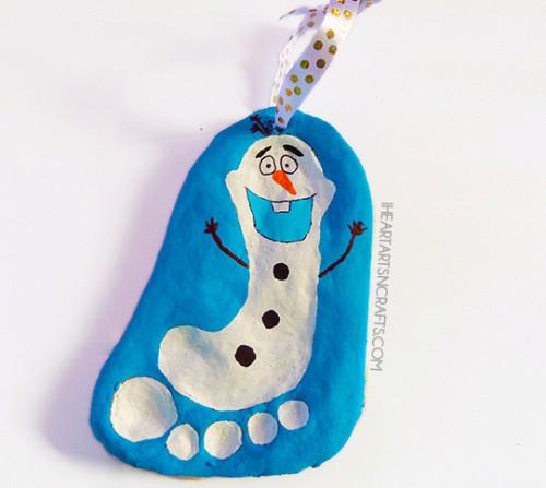 Olaf salt dough ornament (via shelterness)