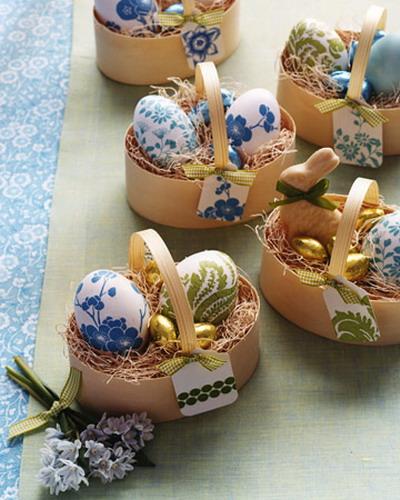 Как красиво украсить пасхальные яйца.