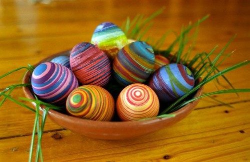 Easter decoration, Easter centrepiece, Easter eggs