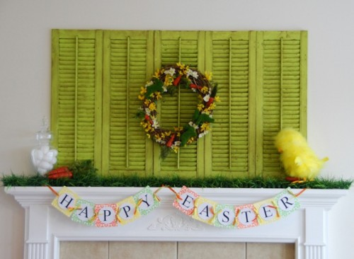 Decorating A Mantel For Easter