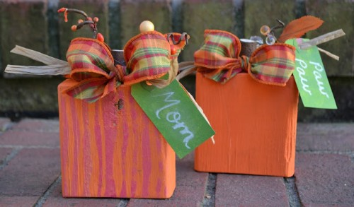 Easy 2x4 Pumpkins For Fall And Thanksgiving Decor