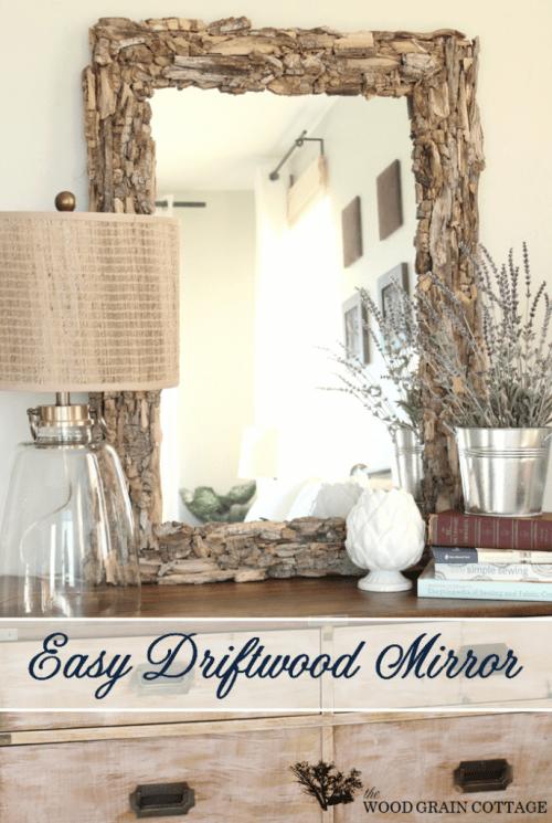 big driftwood mirror (via thewoodgraincottage)