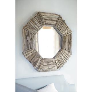 geo driftwood mirror (via mommysmissingpieces)