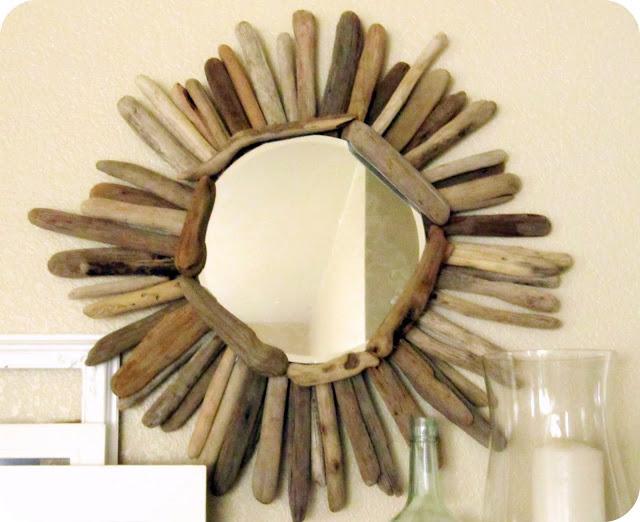 simple driftwood mirror