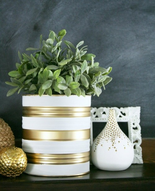 Easy And Budget-Savvy DIY Painted Tin Can Planters