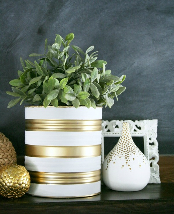 Picture Of easy and budget savvy diy painted tin can planters  1
