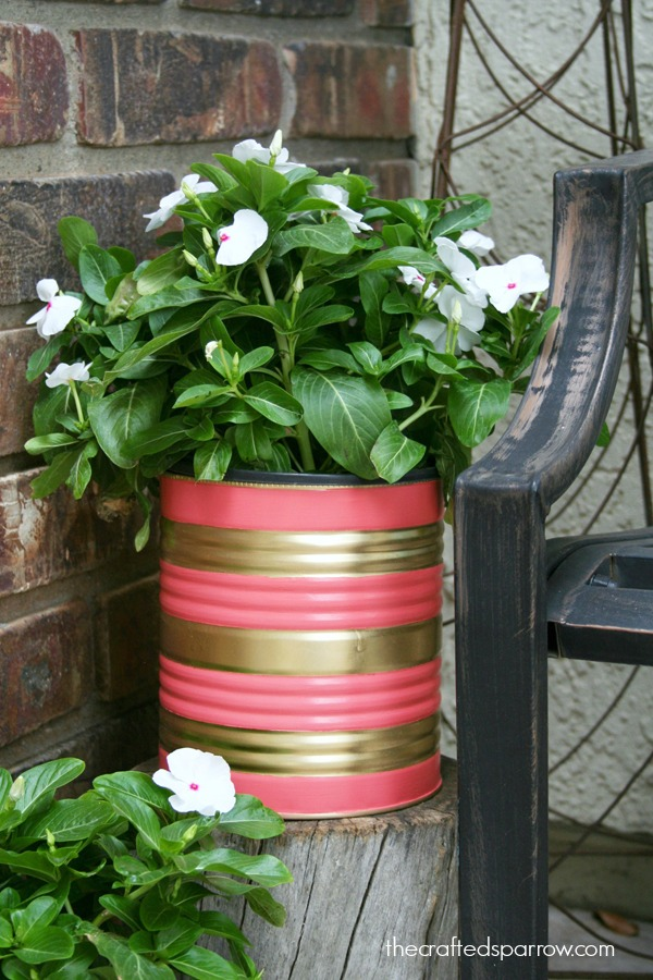 Picture Of easy and budget savvy diy painted tin can planters  4