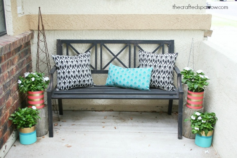 Picture Of easy and budget savvy diy painted tin can planters  5
