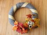 easy fall yarn wreath