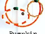 yarn pumpkin wreath