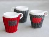 Christmas cup cozies