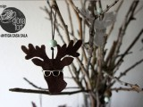 hipster deer ornament