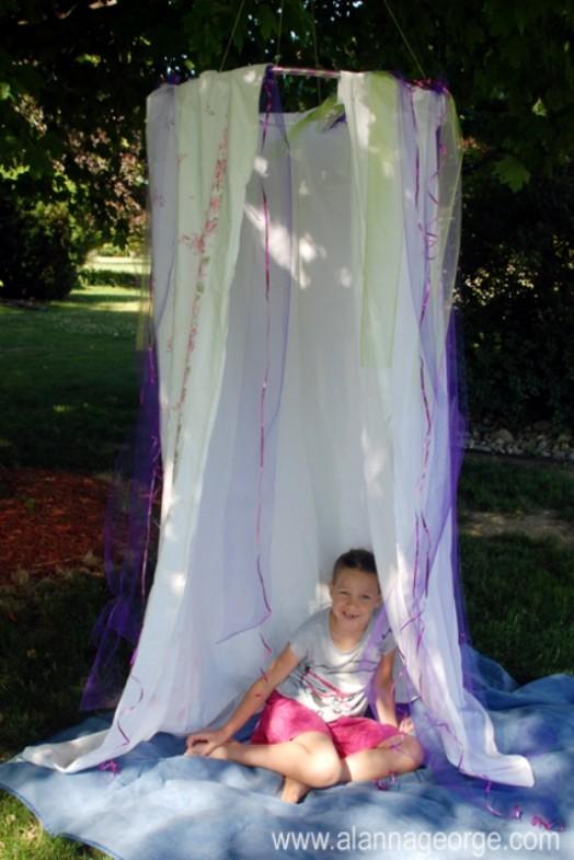 hula hoop hideout tent