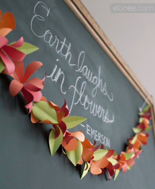 DIY colorful spring garland