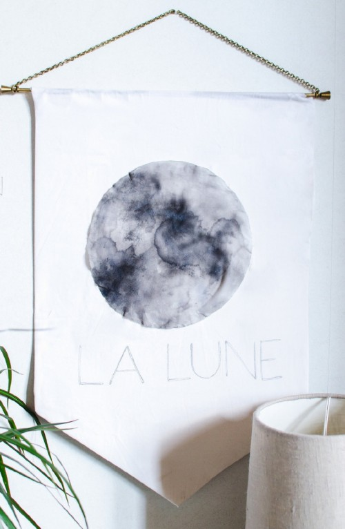 Easy And Dreamy La Lune Fabric Wall Art