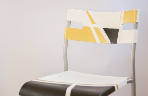 geometric chair upcycling