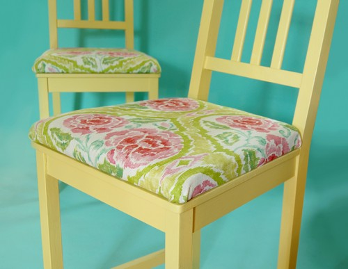adding upholstery to chairs