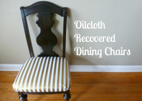 oilcloth chair makeover