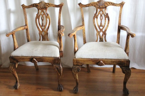 upcycling an old chair with a French twist