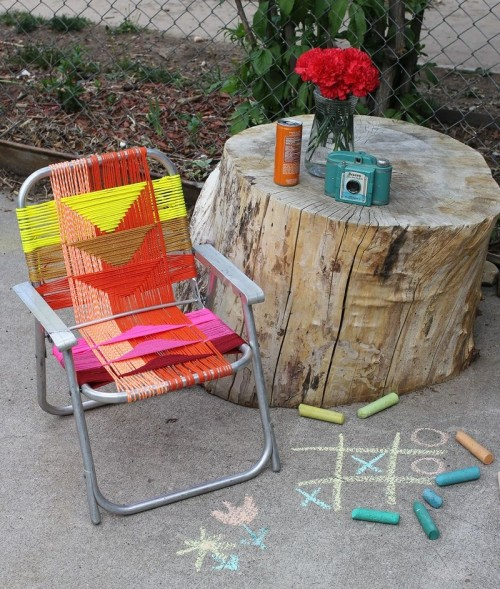 aluminum chair makeover