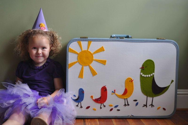 fun birdy suitcase