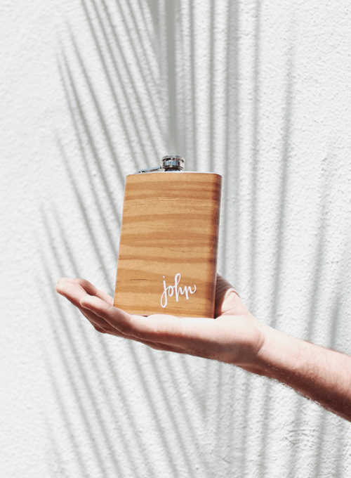 wood grain flask (via almostmakesperfect)