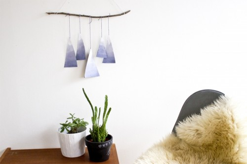 Easy And Quick DIY Blue Mountains Paper Mobile