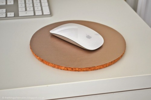 cork and vinyl mouse pad (via thethingsshemakes)