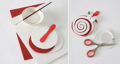 Easy DIY Candy Cane Coasters For Christmas