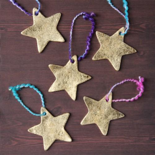 gold clay stars (via gatheringbeauty)