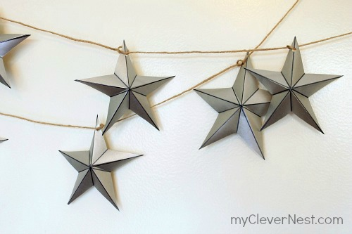 easy star garland via myclevernest - Christmas Star Decorations