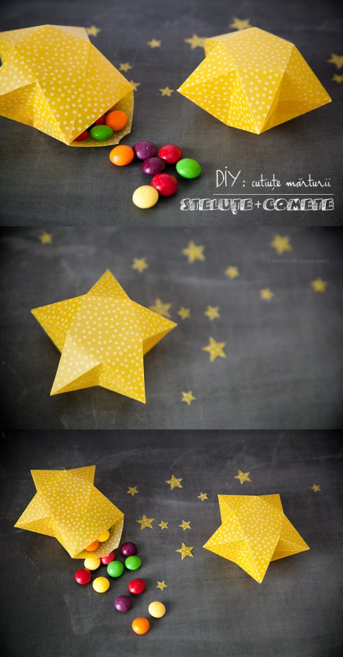 star-shaped gift boxes (via vixyblu)