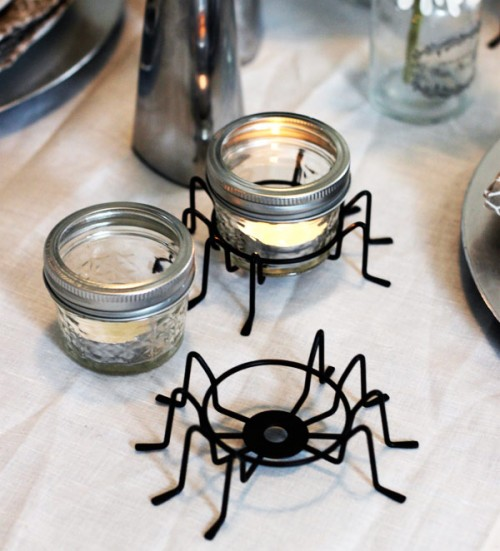 Easy DIY Creepy Crawly Candle Holders