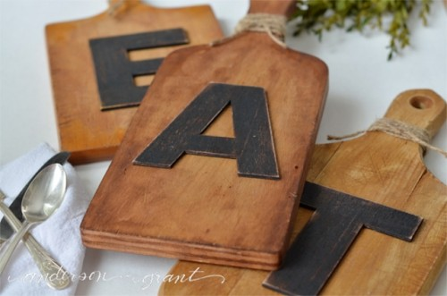 DIY Cutting Board Wall Art For Kitchen Decor