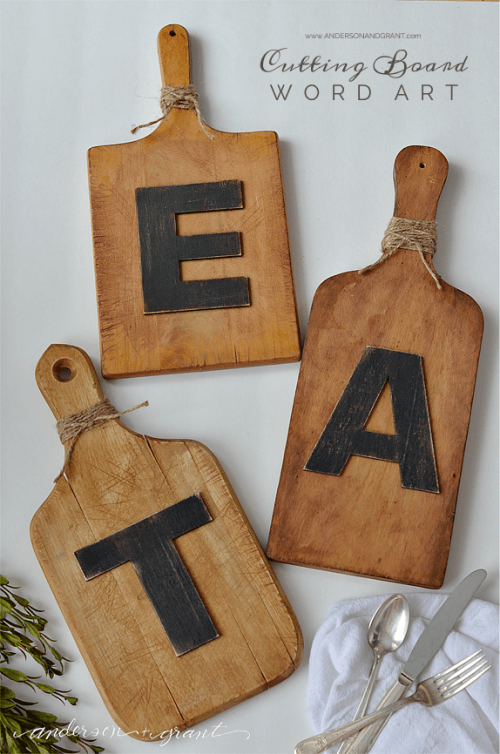 Diy Cutting Board Wall Art For Kitchen Decor Shelterness