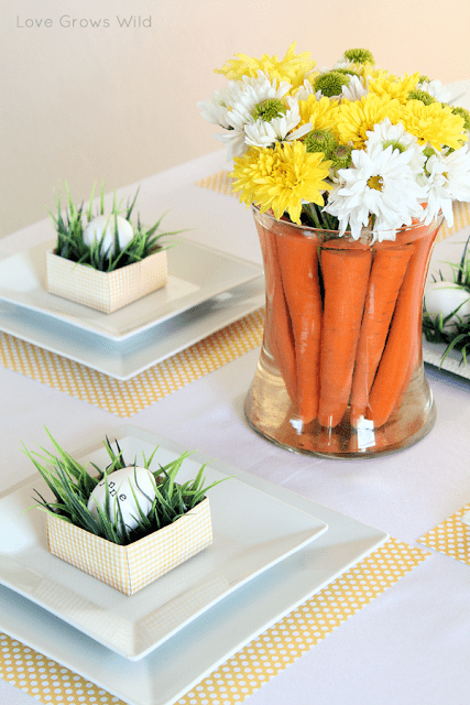 Easy diy easter centerpieces shelterness