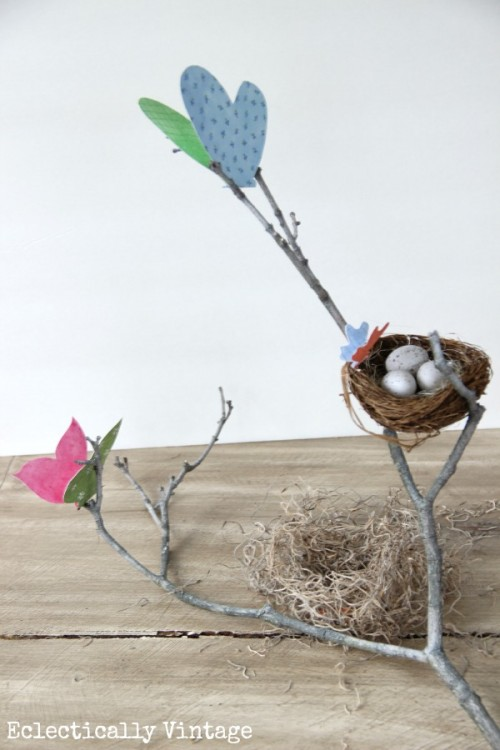 butterfly branch centerpiece (via eclecticallyvintage)