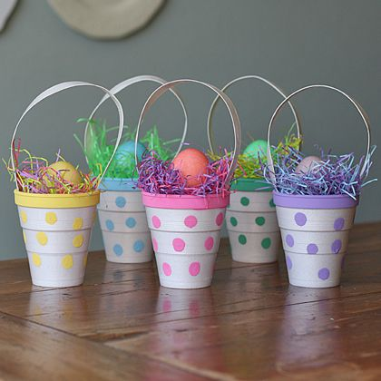 Easy DIY Easter Egg Holders And Cups » polka dot cups (via spoonful ...