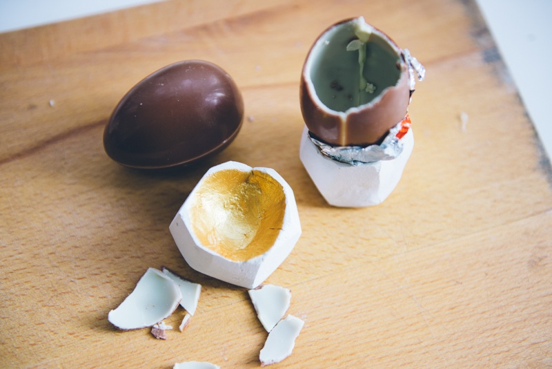 faceted egg cups