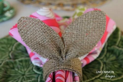 burlap bunny napkin rings (via uncommondesignsonline)