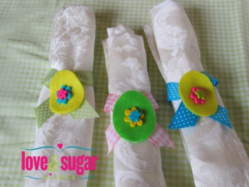 colorful egg napkin rings (via loveandsugarkisses)