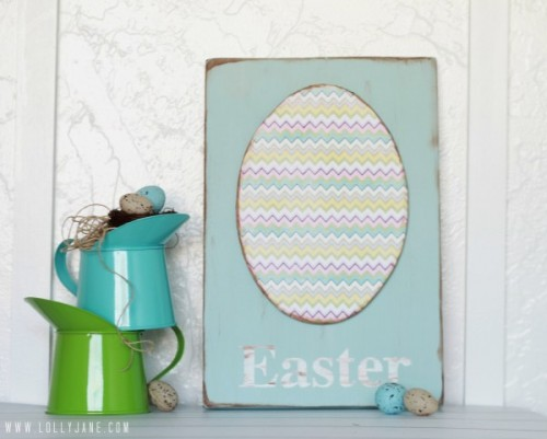 foam egg Easter sign (via lollyjane)