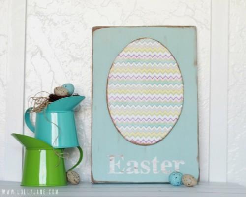 foam egg Easter sign (via lollyjane)