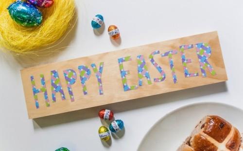 decoupage Easter sign (via modpodgerocksblog)