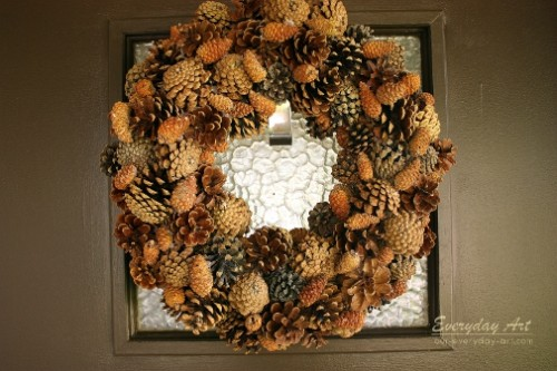 fall pinecone wreath (via our-everyday-art)