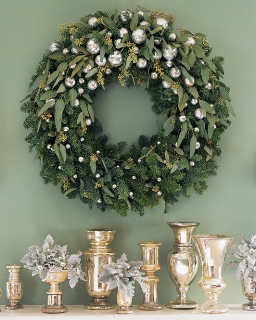 fir and eucalyptus wreath (via marthastewart)