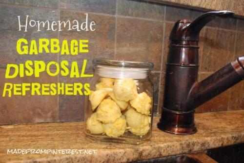 lemon garbage disposal tablets (via madefrompinterest)