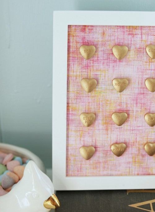 Easy Diy Gold Hearts Decoration For Valentines Day
